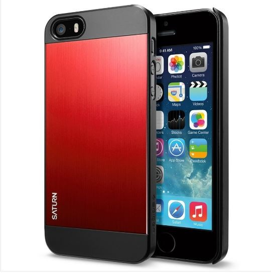 Чехол Spigen Saturn case для iPhone 5 / 5S / SE (Metal Red)