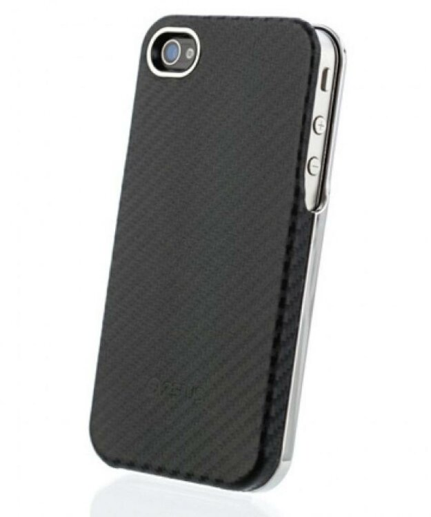 Карбоновый чехол Zenus для iPhone 4/4S Prestige Skin Air Pocket Series - Black