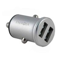 Автозарядка EnergEA АЗУ Mini drive, 2 USB Aluminium 4.8A, Silver (CAR-MD-48S-SLV)