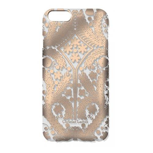 Чехол накладка для iPhone 5 / 5S / SE Christian Lacroix Paseo transparent Hard Rose gold, CLPSMCOVIPSER