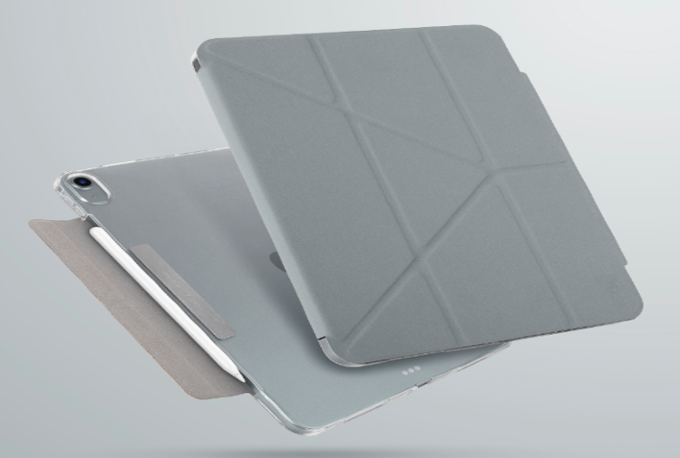Чехол-книжка Uniq Camden new для iPad Air 10.9 (2020) antimicrobial - fossil, Grey (NPDA10.9GAR(2020)-CAMGRY)