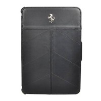 Кожаный чехол Ferrari для iPad Mini 2/3 California, Full Black (FECFFCMPFB)