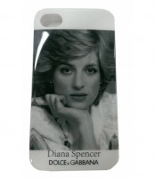 Чехол накладка Dolce&Gabbana для iPhone SE / 5S / 5 Diana Spencer