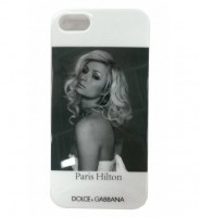 Чехол накладка Dolce&Gabbana для iPhone SE / 5S / 5 Paris Hilton