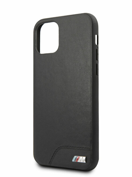Чехол-накладка для iPhone 11 BMW M-Collection Smooth PU Hard Black (BMHCN61MHOLBK)