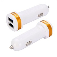 Автозарядка с 2 USB портами LDNIO 2100 mA White/Gold (DL-C21-2)