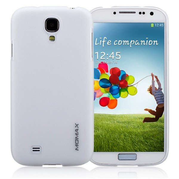 Чехол накладка Momax Ultra Thin Case Clear для Samsung Galaxy S4 CUSAS4TW1 (белый)