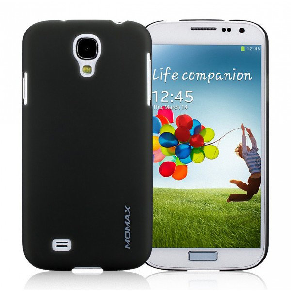 Чехол накладка Momax Ultra Thin Case Clear для Samsung Galaxy S4 CUSAS4TD1 (черный)