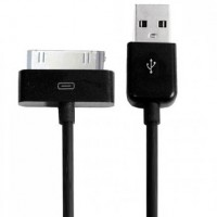 USB кабель slim для iPhone 2g/3g/3gs/4/4s, iPad 1/2/3, iPod Touch 1 метр (черный)