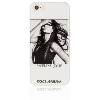 Чехол накладка Dolce&Gabbana для iPhone 5S / 5 Angelina Jolie