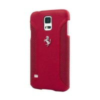 Кожаный чехол накладка для Samsung Galaxy S5 Mini Ferrari F12 Hard Red (FEF12HCS5MRE)