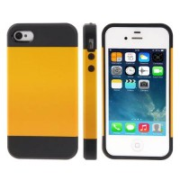 Чехол накладка Slim Armor Series для iPhone 4/4S (Yellow)