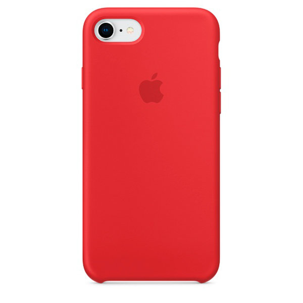 Чехол в стиле Apple Silicone Case для iPhone 8 / 7 (Red)
