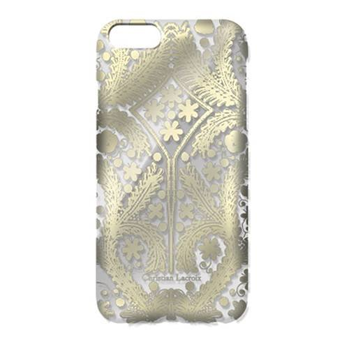 Чехол накладка для iPhone 5 / 5S / SE Christian Lacroix Paseo transparent Hard Gold, CLPSMCOVIPSEG