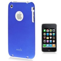 Чехол накладка Moshi Pure Colour для iPhone 3G/3GS с пленкой в комплекте (синий)