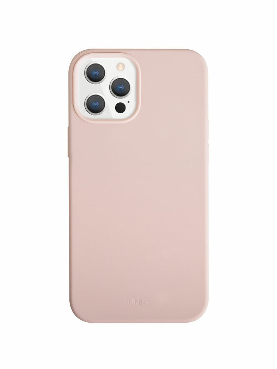 Чехол-накладка Uniq для iPhone 12 Pro Max (6.7) LINO Anti-Microbial Pink (IP6.7HYB(2020)-LINOHPNK)