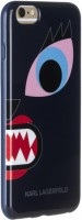 Гелевый чехол накладка для iPhone 6 Plus / 6S Plus Karl Lagerfeld Monster Choupette Hard Blue (KLHCP6LMCB)
