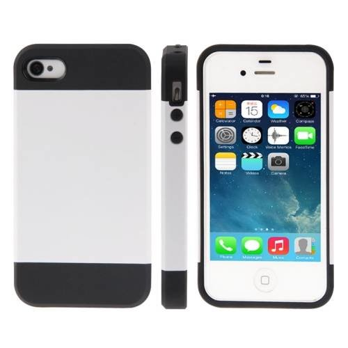 Чехол накладка Slim Armor Series для iPhone 4/4S (White)